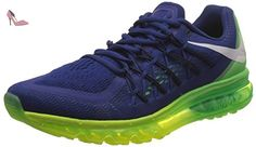 free shipping 1ee99 23b3a Hommes Air Max 2015 Chaussures de course Deep Blue Royal   V Vert   noir  698902-407 Taille 8  Amazon.fr  Chaussures et Sacs