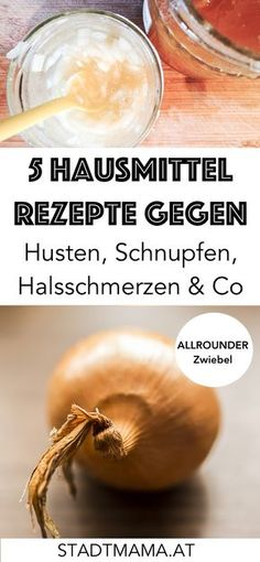 Hausmittel gegen Erkältung & Co Cough, runny nose, sore throat. The 5 best home remedies for mild diseases in winter easily and quickly with onion produce. Cold Home Remedies, Natural Health Remedies, Herbal Remedies, Baby Health, Gut Health, Health Tips, Infection Des Sinus, Ginger Benefits, Natural Remedies