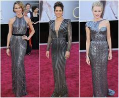 We love these metallic looks from the Oscars!