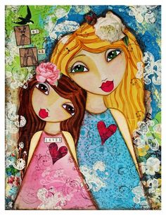 You are Loved ll Fine Art Print of Mixed Media painting