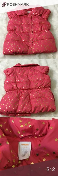 ⬇️💰⬇️ Gymboree Star Vest Puffy Gymboree star dress Pink with gold stars Gymboree Jackets & Coats Vests