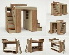 King and queen size loft beds for adults...a head start in your tiny home.