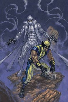 Wolverine and Fantomex by ANDY PARK