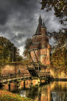 {Castle Duurstede, a medieval castle in Wijk bij Duurstede in the province of Utrecht in the Netherlands}