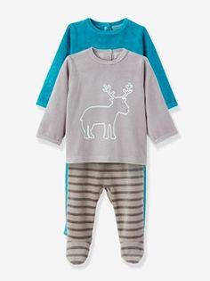 Lote de 2 pijamas de 2 prendas terciopelo bebé