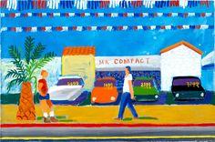 Santa Monica Boulevard, 1979 acrylic on canvas, 24x36 in.