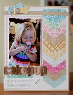 Cakepop Obsessed #layout by Emily Spahn #papercrafts #scrapbook