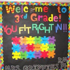 Beginning of the school year bulletin board