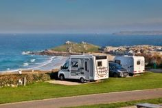 Campsites beside the sea