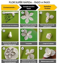 in English would be great! Fondant Rose, Fondant Icing, Fondant Flowers, Sugar Paste Flowers, Fondant Figures Tutorial, Candy Flowers, Fondant Decorations, Polymer Clay Flowers, Sugar Craft
