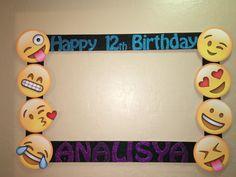 emoji photo birthday party booth frame prop any emoji