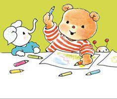 Fotobehang Sweet Collectie - Bobbi With Crayons - FotobehangFactory.nl