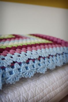 blanket crocheted edge stitch
