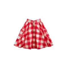 Red Gingham Jnr michelle Girls Woven Skirt | Joules UK ($32) ❤ liked on Polyvore featuring skirts
