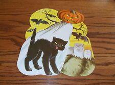 """VTG 12"""" MADE IN USA HALLOWEEN BATS CAT DIE CUT CARDBOARD DECORATION CUT OUT NOS Halloween Bats, Vintage Halloween, Halloween Decorations, Die Cut, Cat, Cat Breeds, Cats, Kitty, Halloween Art"""