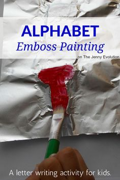 Emboss Painting Activities for Kids - Awesome way to learn letters, numbers or shapes!