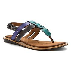 c98fc29df New Clarks Billie Swing Multi-strap Turquoise Thong Sandals w  Backstrap