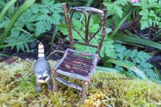 A rustic dolls house chair made from twigs with a heart shaped back. - Photo ©2008 Lesley Shepherd, Licensed to About.com Inc.