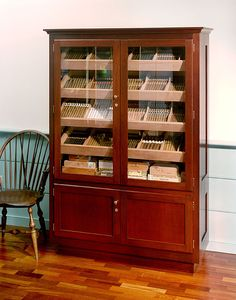 Turn China Cabinet into humidor.  Vapor barrier between existing wood and…