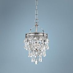 """Crystorama Calypso 7 1/2"""" Wide Convertible Chrome Pendant  Style # 3W523 on lampsplus.com for the kitchen $278.00 + Free Shipping*"""