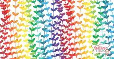 Rainbow Heart Strings Surface Pattern Design. Available for licensing. Emily Ann Studio