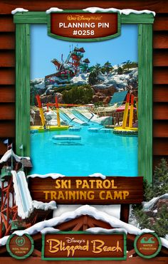 Walt Disney World Planning Pins: Ski Patrol Training Camp