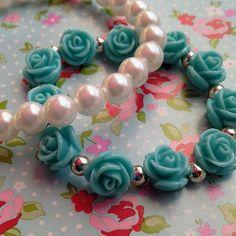 Elegant Rose Pearl Multiple Bracelets  Colours Mint White  Peach Black White  $8.13 £5.00