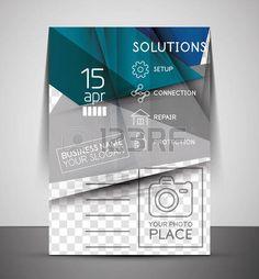 CMYK negocios folleto corporativo plantilla |  Diseño geométrico foto