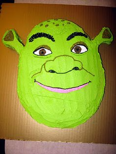 DIY Shrek Costume & Birthday Party ideas and Shrek Coloring pages - Page 2 of 3 - Diy Craft Ideas & Gardening 19th Birthday Cakes, New Birthday Cake, Golden Birthday, Costume Birthday Parties, Birthday Party Decorations, Birthday Ideas, Birthday Crafts, Shrek Cake, Pastries