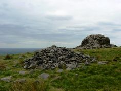 Two of the three cairns on Crooked Edge Hill, somewhat confusingly marked on the map as Two Lads  In addition to all the features above Winter Hill is also supposed to be one of the few places where one can see the summits of four different National Parks (the Peak District, Yorkshire Dales, Lake District and Snowdonia). Unfortunately on my visit the visibility wasn't fantastic but there were still some good views north and east to other West Pennine Moors.