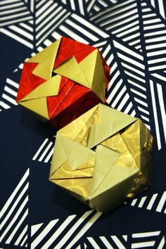 Cajas Hexagonales de Origami - Hexagonal Origami Boxes