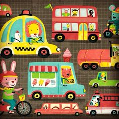 On the Road- puzzle art for Mudpuppy, via Flickr.
