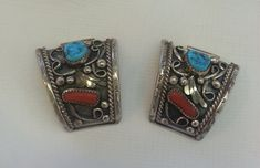 Native American Watchband Tabs Signed VM  by TracyBDesignsAZ, $119.00