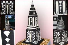 Fabulous art deco architectural cake.