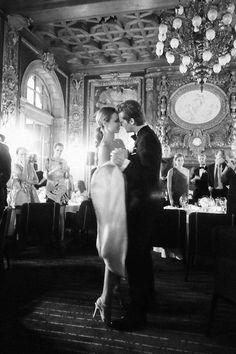 The couple's first dance. Courtesy  - HarpersBAZAAR.com
