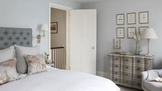 Interior Design Inspiration – Our portfolio showcases how we transformed a London townhouse into a traditional family home with an elegant country feel. London Townhouse, Pretty Pastel, Dresser As Nightstand, Interior Design Inspiration, Living Spaces, Home And Family, Bedroom Decor, Table, Pastels
