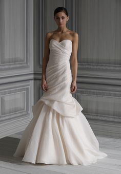 monique lhuillier...peony...spring 2012...@the Plumed Serpent Bridal
