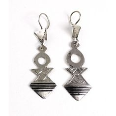 Tuareg Silver Arrow Earrings $5.95 Hand-made by the Tuareg people of North Africa. J-TE065