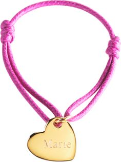 Petit Tresors' Heart Charm Bracelet is sure to wow your little girl. Engrave the heart with her name for a truly special gift. The bands come in a variety of colors. I love that this bracelet is elegant but casual enough for everyday wear. @krcunningham