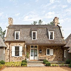 CURB APPEAL – another great example of beautiful design. Best New Home, The House at a Glance, Southern Living.