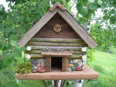 Birdhouse - Handmade - Ponder Rock #56 with a little lichen