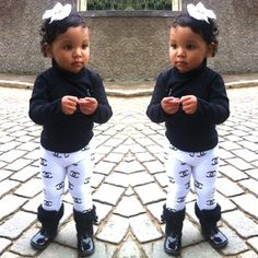 Adorable! Channel baby girl #stylish #kids #fashion
