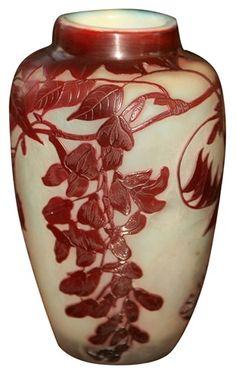 ❤ - Émile Gallé   Cameo Glass Vase. Galle : More at FOSTERGINGER at Pinterest