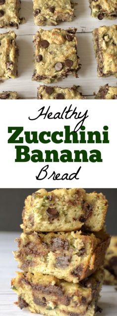 Healthy Zucchini Banana Bread is a nutritious and delicious and easy quick bread! Such an easy healthy breakfast, snack or dessert that is gluten-free, paleo and can be made vegan! Healthy Muffin Recipes, Healthy Dessert Recipes, Snack Recipes, Delicious Recipes, Healthy Treats, Paleo Recipes, Zucchini Banana Bread, Healthy Zucchini, Baking With Almond Flour