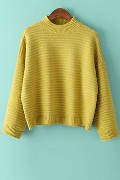 Jewel Neck Loose Fit Sweater