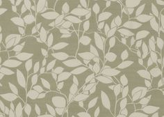 """""""Haricot"""" Pattern repeat 79cm. One of our most popular fabrics, this medium weight panama cotton fabric with a classic leaf design is sourced from one of the few mills still operating in the UK. The cream leaves set to a cool green background will brighten up any interior. This fabric will hang beautifully as curtains or blinds. This fabric is suitable for domestic upholstery. #thenaturalcurtaincompany #curtains"""