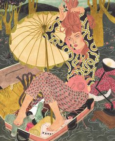 I LOVE ILLUSTRATION: Riikka Sormunen -  XL illustration book of Helsinki-born, Berlin-based illustrator Riikka Sormunen in the American Book Center in Amsterdam. I love her compositions packed with textures and patterns! www.riikkas.com
