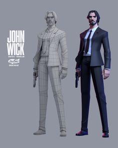 Dinsai studio on [Process]JOHN WICK Parabellum [Dinsai Studio fan art model] Zbrush Character, 3d Model Character, Character Modeling, Character Concept, Character Art, John Wick, Piskel Art, Art 3d, Concept Art Landscape