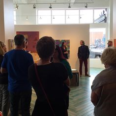 """We would like to thank everyone who attended John Berry's artist discussion on his solo show """"Duality."""" Come see the new works Tuesday through Saturday from 11-6pm. http://ift.tt/29CQf8R #abstractart #contemporaryart #artofthewest #modernart #newworks"""