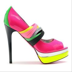 The Ruthie Davis' Spring/Summer 2011 Collection Mixes Bold Colors #shoes #footwear trendhunter.com